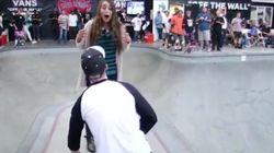 Ce skateur a fait une demande en mariage particulièrement