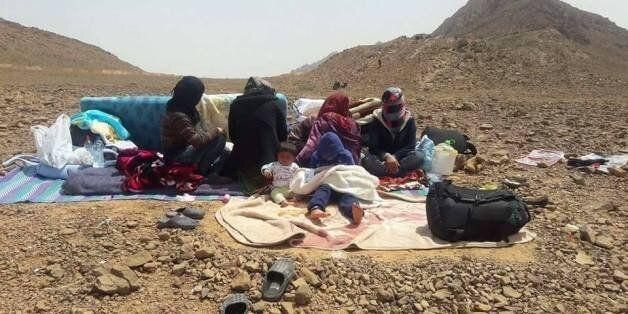 Réfugiés syriens coincés à la