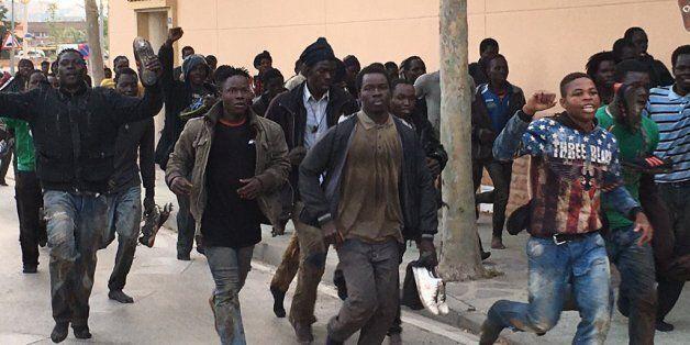 Une centaine de migrants a réussi à pénétrer dans
