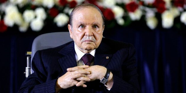 President Abdelaziz Bouteflika looks on during a swearing-in ceremony in Algiers April 28, 2014. Bouteflika...