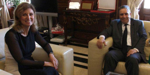 Le consul d'Algérie à Valnce M. Azzdine Benbelgacem reçu par la maire de Casellon Mme Amparo