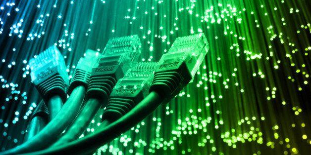 Network cable with Fiber optics light internet