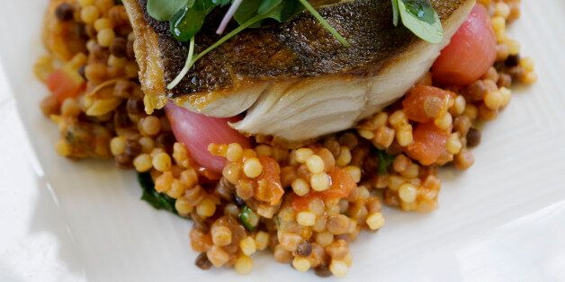 Black cod over fregola sarda is served at A1 Cucina Italiana in Beverly Hills on April 25, 2012. (Photo...