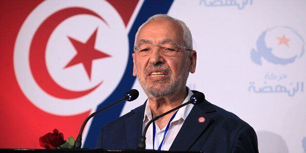 TUNISIA, TUNIS - MAY 23: President of Ennahda movement Rached Ghannouchi delivers a speech in a press...