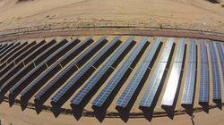 Inauguration d'une centrale solaire à