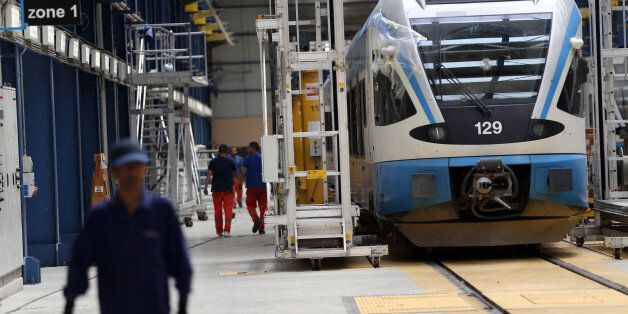 Maintenance room of train Hussein Dey by RATP Dev. in Algiers, Algiersia, on 21 April 2016.RATP Dev launches...