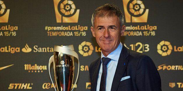 VALENCIA, SPAIN - OCTOBER 24: Lucas Alcaraz attends the LFP (Professional Football League) Soccer Awards...