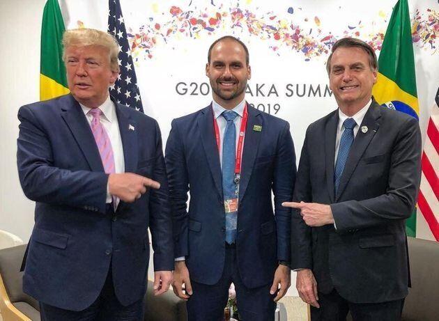 Em junho, Bolsonaros estiveram com Donald Trump em Osaka, no Japão, durante cúpula do