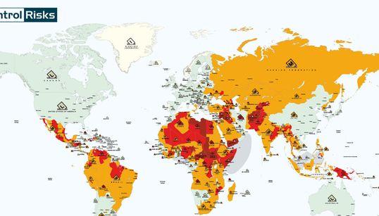 Ces cartes vous montrent l'état du monde en 2017 et les risques que vous