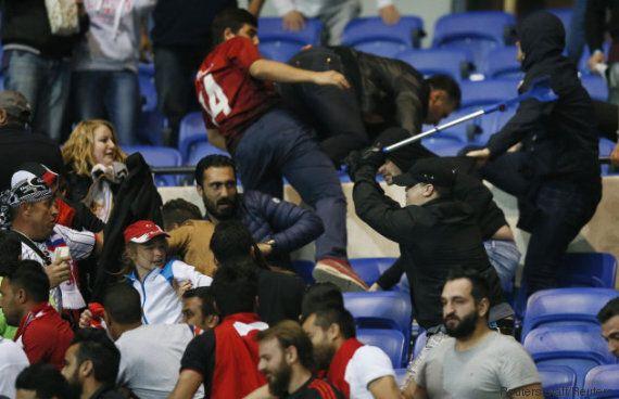 OL - Besiktas: la photo des débordements entre supporters qui