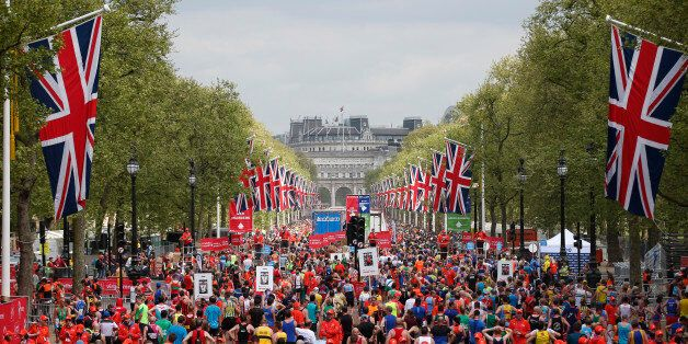 Britain Athletics - London Marathon - London - 23/4/17 General view of the mall after runners have finished...
