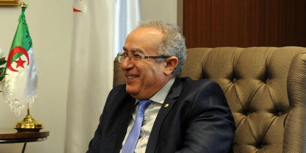 Algerian Foreign Minister Ramtane Lamamra meets with the Mayor of Paris on February 8, 2016 in the capital...