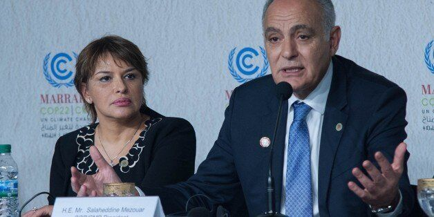 MARRAKECH, MOROCCO - NOVEMBER 18: Morocco's Foreign Minister and the head of COP22 Salaheddine Mezouar...