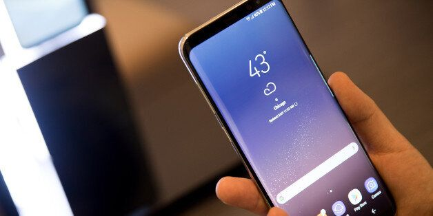 NEW YORK, NY - MARCH 29: A view of the new Samsung Galaxy S8 at its Samsung launch event, March 29, 2017...