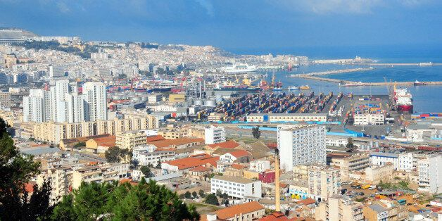 Algiers, Algeria: white city - southern part of the city and the port - panorama - amphitheater over...