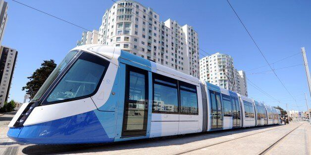 The new tramcar is pictured on May 8, 2011 in Algiers. After a two-year delay, the new tramway service...