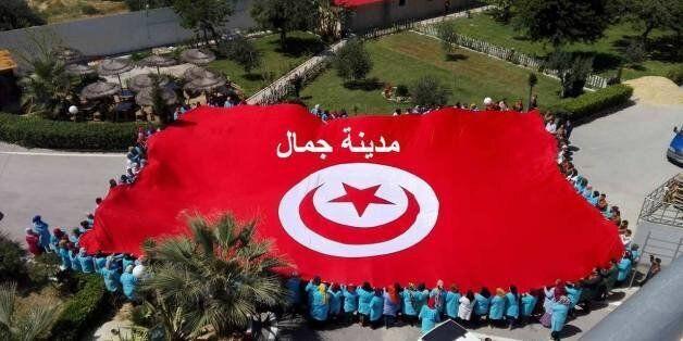 Ce drapeau tunisien géant a été conçu par des Tunisiens: Un clin d'oeil à celui du belvédère