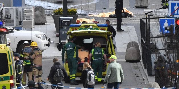 People were killed when a truck crashed into department store Ahlens on Drottninggatan, in central Stockholm,...