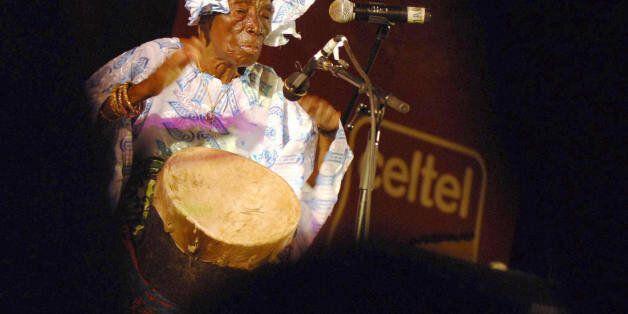 Zanzibar, TANZANIA, UNITED REPUBLIC OF: Zanzibari legend singer Bi Kidude bint Baraka, in her nineties,...