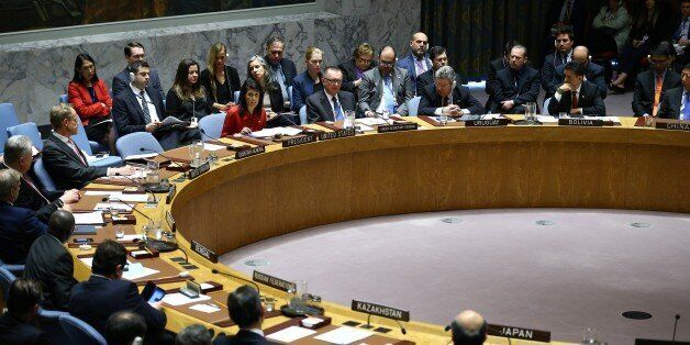 NEW YORK, USA - APRIL 7: U.S. Ambassador to the United Nations Nikki Haley delivers remarks during a...