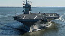 Un porte-avions américain en route vers la péninsule