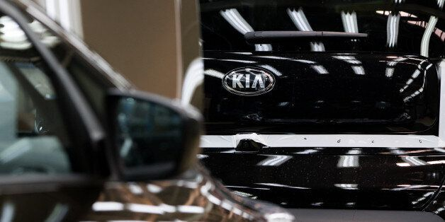 Kia Motors Corp. Soul vehicles move along the production line at the company's plant in Gwangju, South...