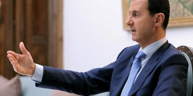 Syria's President Bashar al-Assad speaks during an interview with Croatian newspaper Vecernji List in...