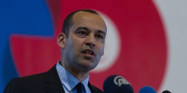 TUNIS, TUNISIA - MAY 24: Yassine Brahim Tunisian Minister of Development, Investment and International...