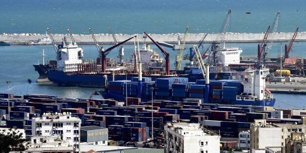 A picture taken on April 2, 2015 shows the harbour of the Algerian capital northwest of Algiers. AFP...
