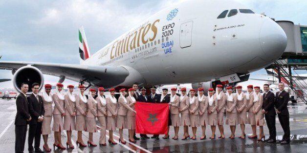L'emblématique A380 fait son premier atterrissage à Casablanca