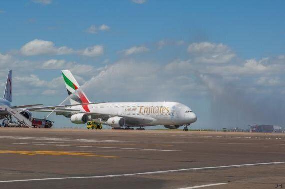 L'emblématique A380 fait son premier atterrissage à