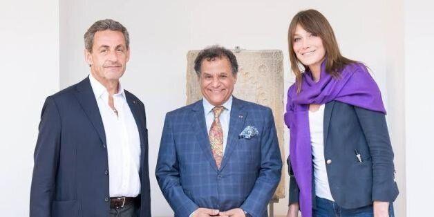 Nicolas Sarkozy et Carla Bruni ont visité le futur musée de l'histoire des