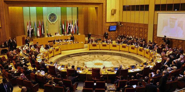 FILE -- In this Jan. 10, 2016 file photo, Arab foreign ministers attend an emergency Arab League session...