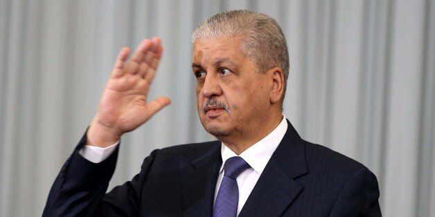 Abed el Malek Sellal Prime Minister at the opening of the Government-Walis meeting at the Palais des...