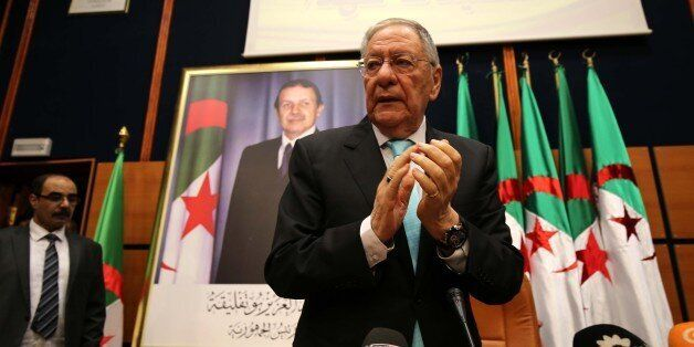 Djamel Ould Abbes, the Secretary General of the National Liberation Front FLN during a press conference...