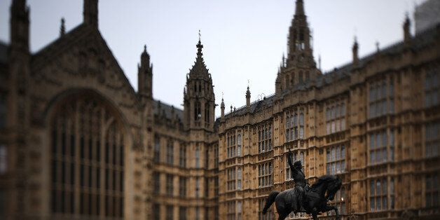 LONDON, ENGLAND - MARCH 14: (EDITORS NOTE: This image was created using a tilt shift lens) A grey dawn...