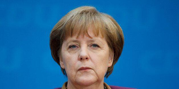 BERLIN, GERMANY - MARCH 26: Portrait of German Federal Chancellor Angela Merkel on March 26, 2012, in...