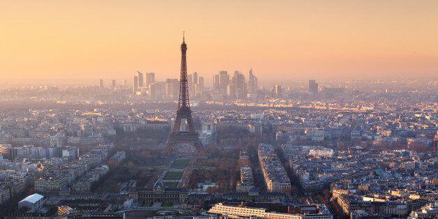 Panorama of Paris at