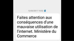Le ministère du Commerce n'est pas derrière le SMS contre