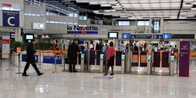 A picture taken on October 17, 2012 shows Paris-Orly Ouest Hall 2 at Paris-Orly airport in Orly, south...