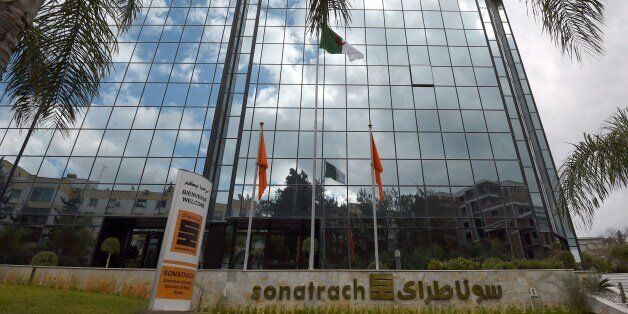 A picture taken on February 8, 2015, shows the headquarters of Algeria's state-owned energy giant Sonatrach...