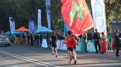 Le podium du Marathon International de Rabat 2017