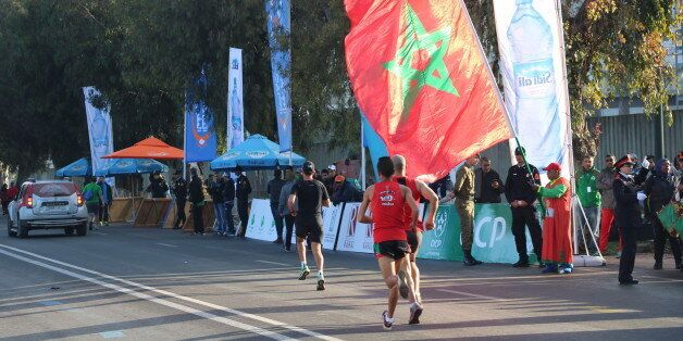 Le podium du Marathon International de Rabat 2017