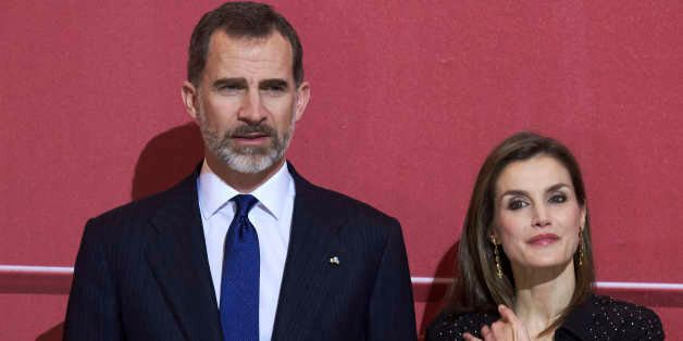 MADRID, SPAIN - MARCH 08: King Felipe VI of Spain and Queen Letizia of Spain attend tribute concert 'In...