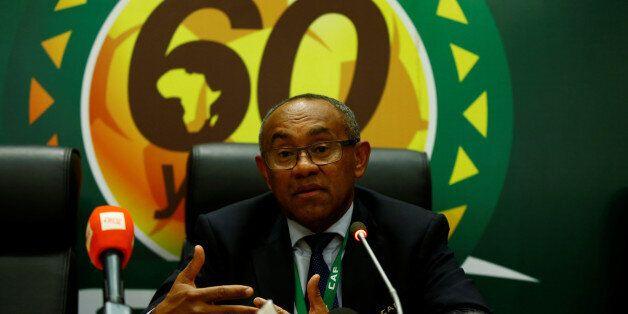 Jeudi 16 mars 2017 au siège de la Confédération Africaine de Football à Addis Abeba (Ethiopie) - le Malgache...
