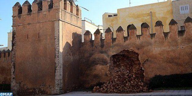 Une partie de la muraille de la médina de Salé