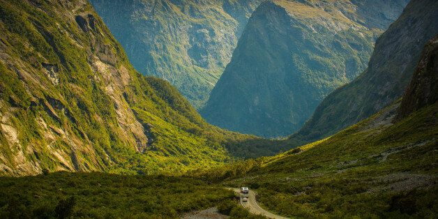 Beautiful scenery, on the way to Milford Sound, South island, New