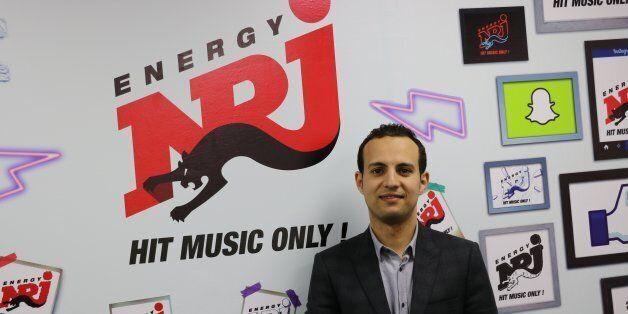 21 février 2017, Hakim Chagraoui dans les studios de NRJ