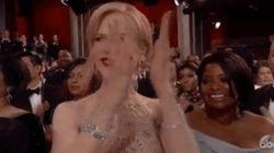 Aux Oscars 2017, applaudir n'a rien de naturel pour Nicole