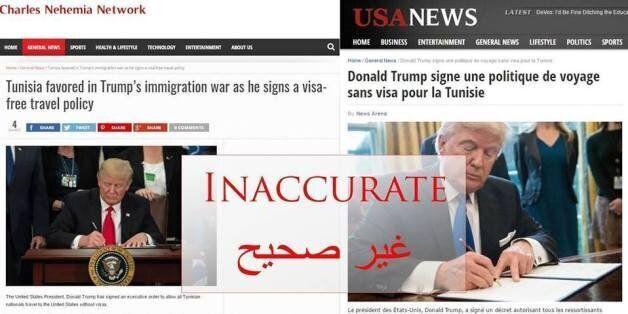 Les Tunisiens n'ont plus besoin de visas pour aller aux USA? Mais comment cette Fake News s'est